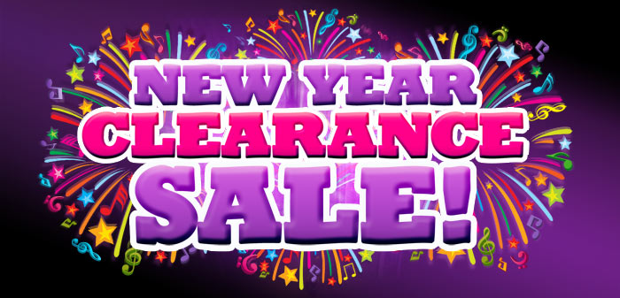 New Year Clearance Sale on now at your Schmitt Music store!