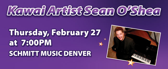 Kawai Artist Sean O'Shea Live at Schmitt Music Denver!