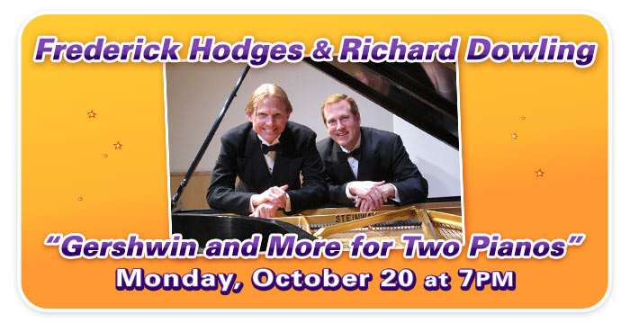 "Kansas City Ragtime Revelry presents ""Gershwin and More for Two Pianos"" with Frederick Hodges and Richard Dowling!"