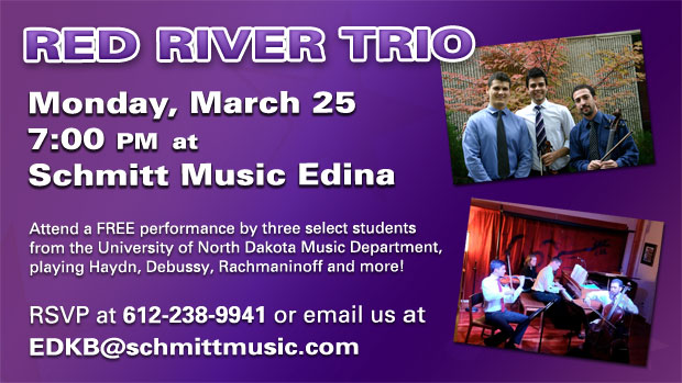 Red River Trio Live at Schmitt Music Edina