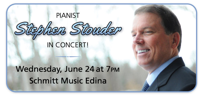 Pianist Stephen Stouder in Concert at Schmitt Music Edina