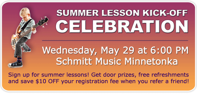 Summer Lesson Kick-off Celebration at Schmitt Music Minnetonka