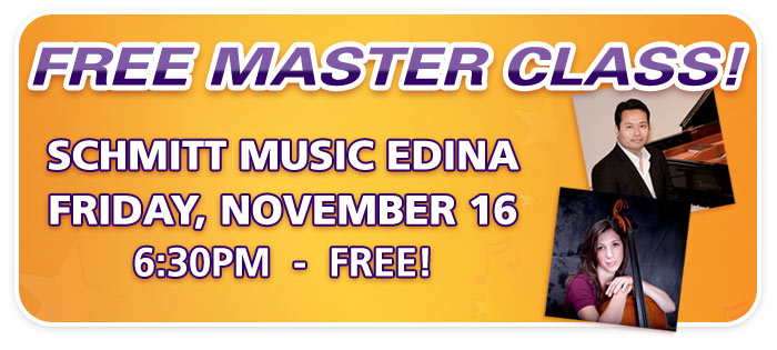 Free Piano & Cello Master Class with UND Professors at Schmitt Music Edina