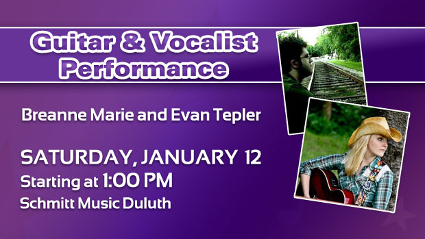 Guitar & Vocal Duet Performance at Schmitt Music Duluth