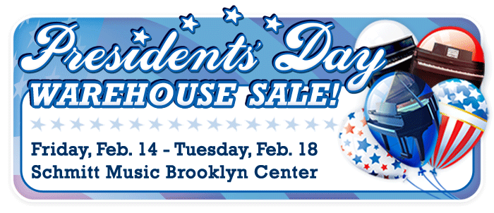 Presidents' Day Warehouse Sale at Schmitt Music Brooklyn Center – 5 DAYS ONLY!