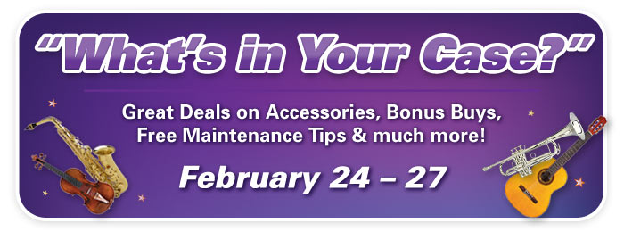 """What's in Your Case?"" Accessories & Maintenance Events!"