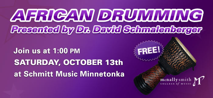 African Drumming Clinic with Dr. David Schmalenberger at Schmitt Music Minnetonka