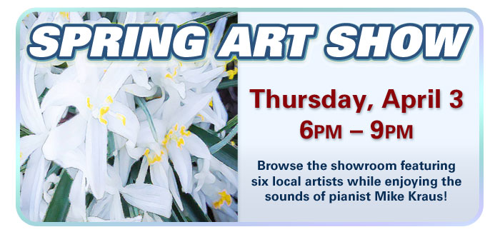 Spring Art Show at Schmitt Music Denver!