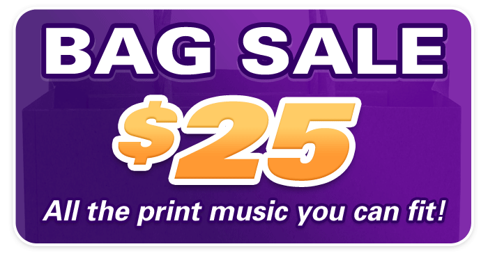 Print Music Bag Sale at Schmitt Music Brooklyn Center!