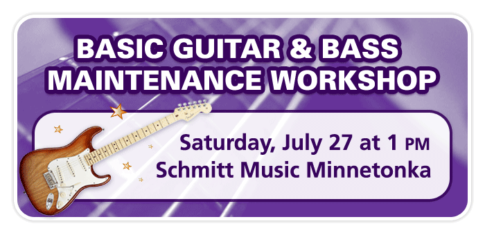 Basic Guitar & Bass Maintenance Workshop at Schmitt Music Minnetonka