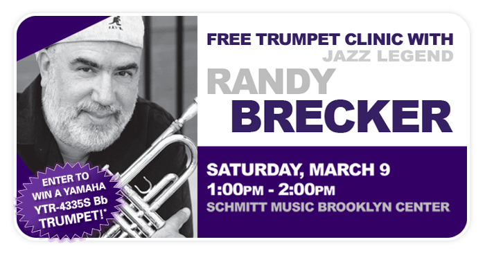 Jazz Trumpet Legend Randy Brecker Free In-Store Clinic at Schmitt Music Brooklyn Center