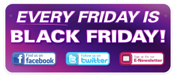 Every Friday in November is Black Friday – Special Sales!