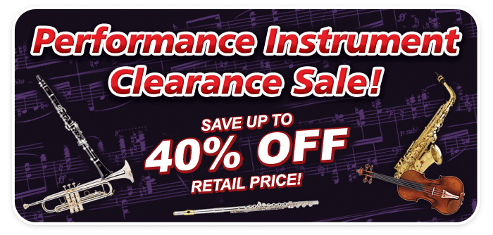 Band & Orchestra Performance Instrument Clearance Sale at Schmitt Music stores!