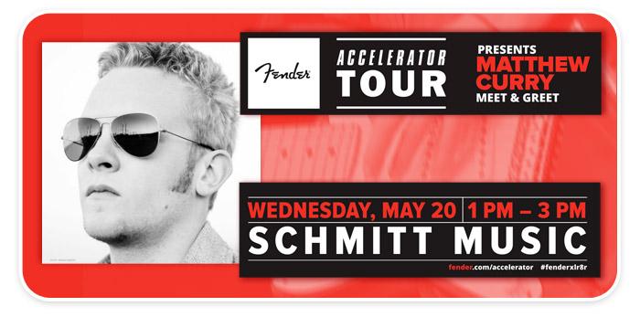 """""""Meet & Greet"""" with Guitarist Matthew Curry – presented by Fender – at Schmitt Music Fargo!"""