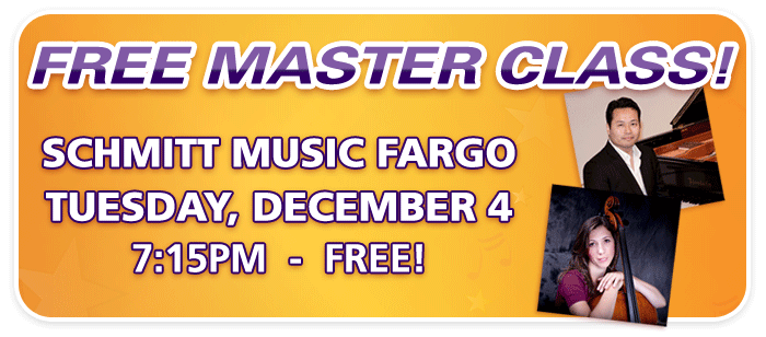 Free Piano & Cello Master Class with UND Professors at Schmitt Music Fargo