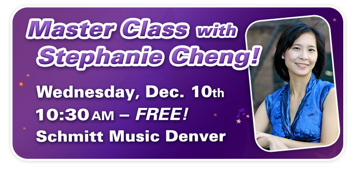 Piano Master Class with Steinway Artist Stephanie Cheng at Schmitt Music Denver!