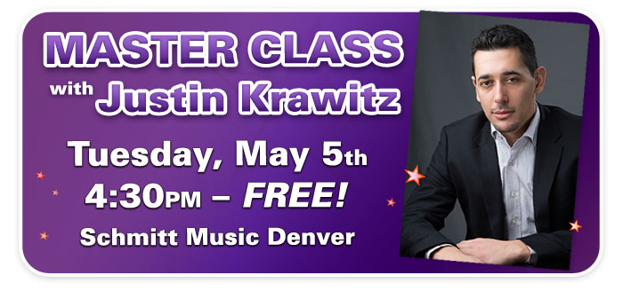 Piano Master Class with UNC Professor Justin Krawitz at Schmitt Music Denver!