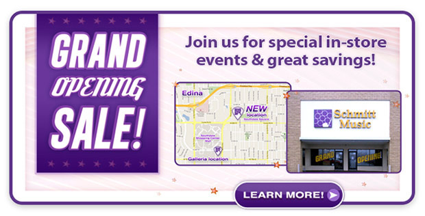 Grand Opening Sale & Events – Celebrating the New Schmitt Music Edina!