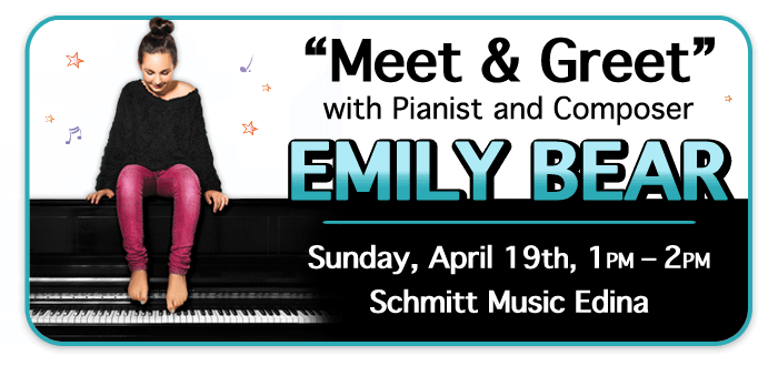 "Emily Bear ""Meet & Greet"" at Schmitt Music Edina!"