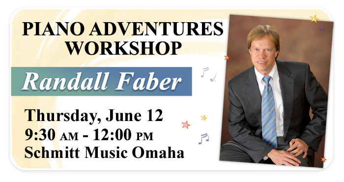 "Randall Faber ""Piano Adventures"" Workshop at Schmitt Music Omaha"