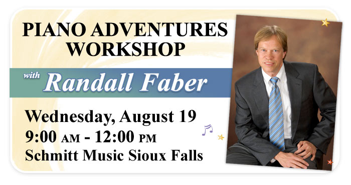 "Randall Faber ""Piano Adventures"" Workshop at Schmitt Music Sioux Falls"