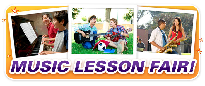"Free Lesson Registration during your Schmitt Music store's ""Lesson Fair"" event!"