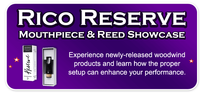 Rico Reserve Mouthpiece and Reed Showcase – D'Addario Woodwind Clinic with Krista Weiss