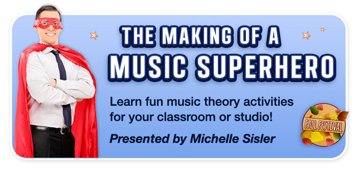"The Making of a Music Superhero – Free Clinic Presented by Michelle Sisler, founder of ""Keys to Imagination, LLC"""