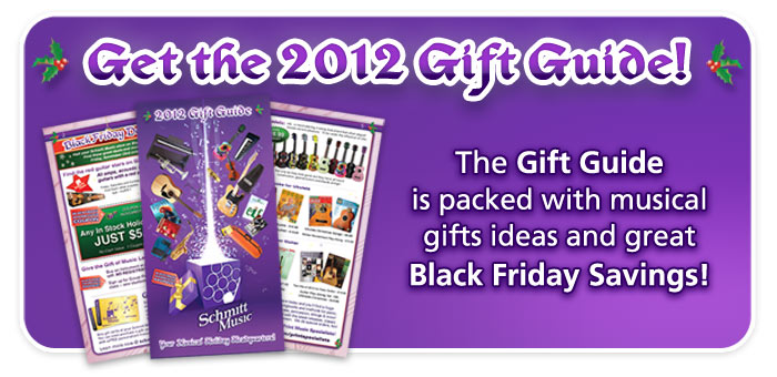 Schmitt Music's Holiday Gift Guide is out now featuring Black Friday savings!!