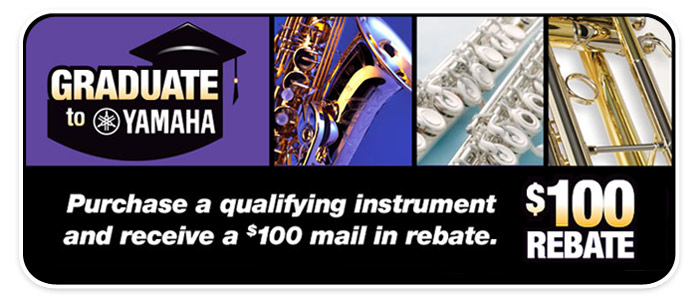 """Graduate to Yamaha"" and Get a $100 Rebate!"