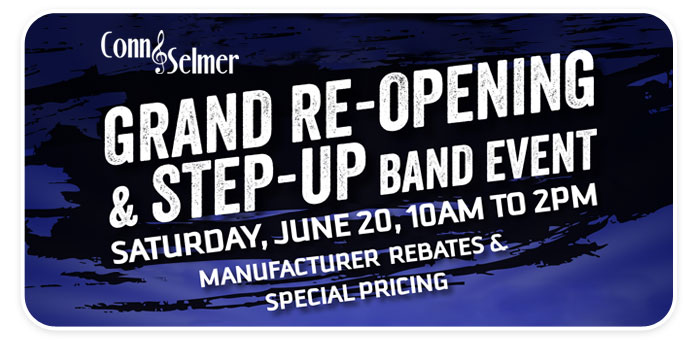 "Grand Re-Opening & Conn-Selmer ""Step Up Band Event"" at Schmitt Music Omaha!"