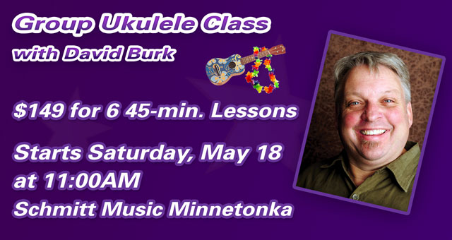 New Group Ukulele Class Added at Schmitt Music Minnetonka