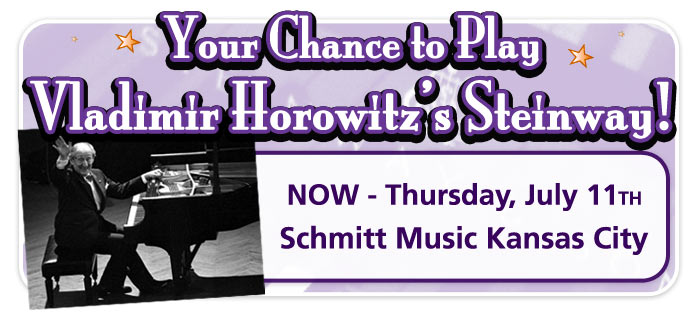 Your Chance to Play the Horowitz Steinway now at Schmitt Music Kansas City!