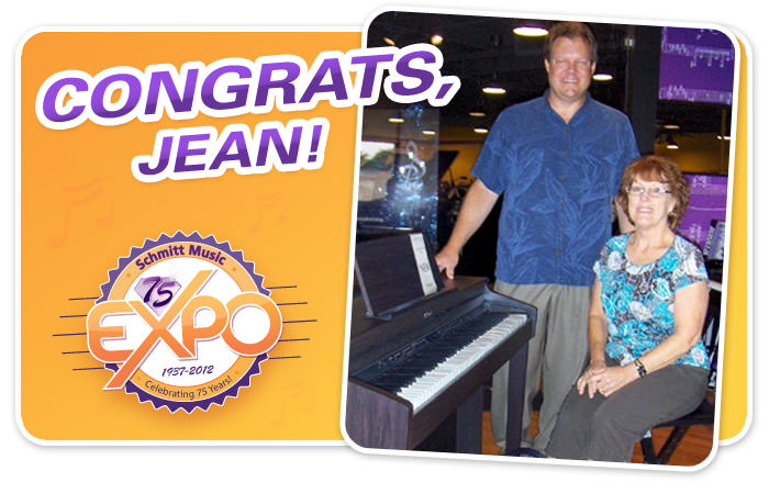 Jean C. is the winner of a brand new Roland HP-503!