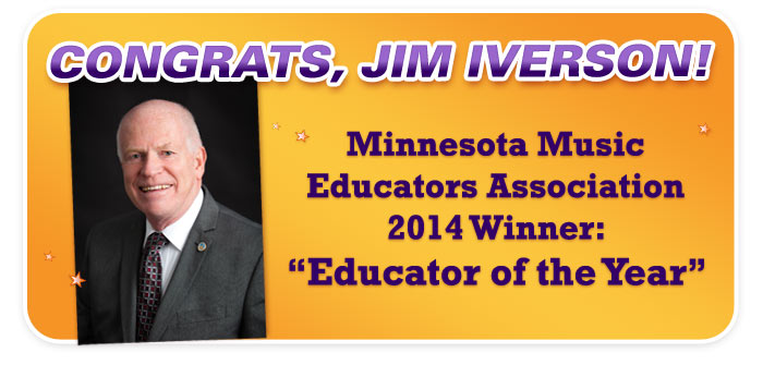 "Congrats to the MMEA's ""Educator of the Year,"" Jim Iverson!"