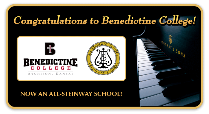 Benedictine College is officially an All-Steinway School