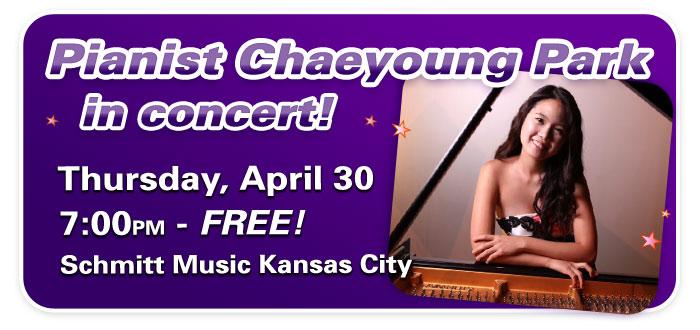 Performance by Pianist Chaeyoung Park at Schmitt Music Kansas City