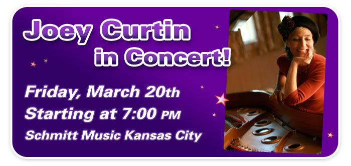Joey Curtin in Concert at Schmitt Music Kansas City