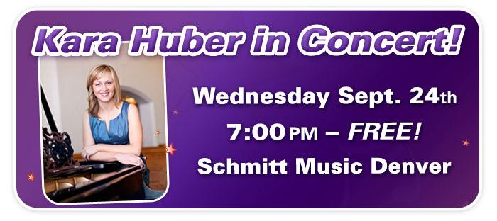 An Evening with Kara Huber at Schmitt Music Denver