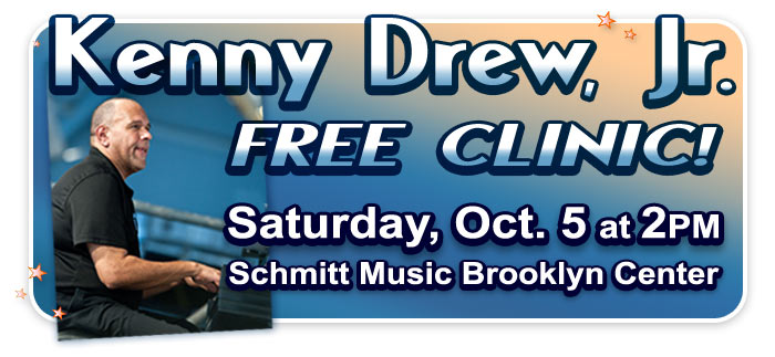 Kenny Drew, Jr. Piano Clinic at Schmitt Music Brooklyn Center!