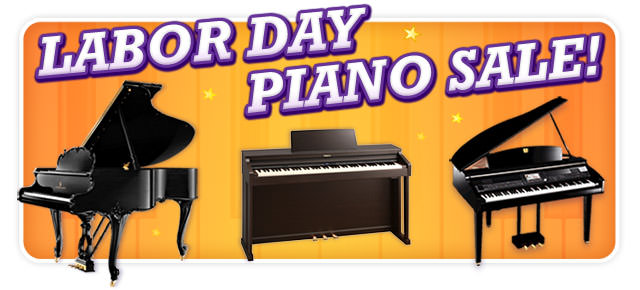 Labor Day Piano Sale at Schmitt Music Kansas City!