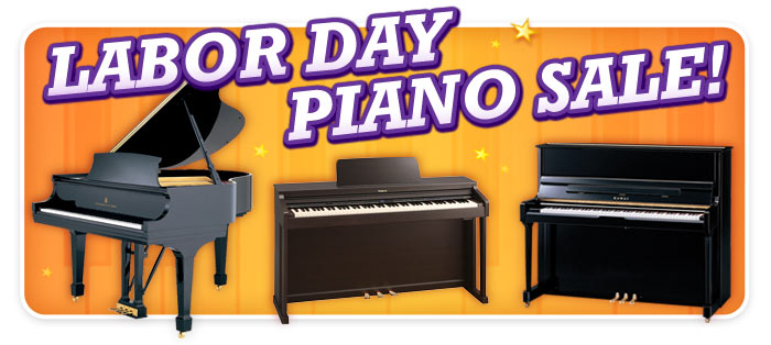 Labor Day Piano Sale at Schmitt Music Denver!