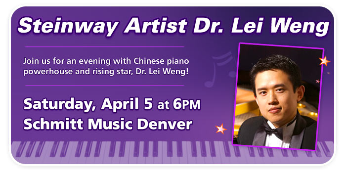 An Evening with Steinway Artist Dr. Lei Weng at Schmitt Music Denver!