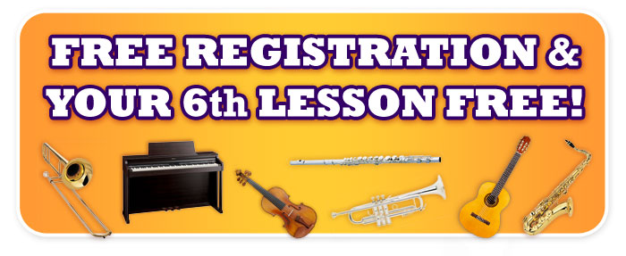 Get Free Lesson Registration and Your 6th Lesson Free!