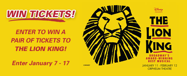 Win a Pair of Tickets to The Lion King!