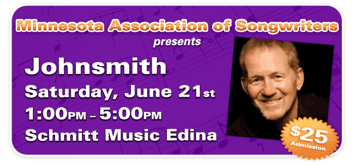 Songwriting Workshop with Johnsmith at Schmitt Music Edina!