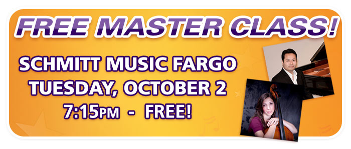 Free Master Class with UND Professors at Schmitt Music Fargo