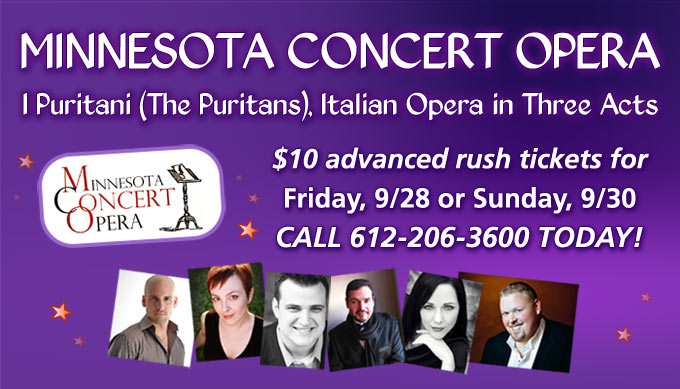 $10 Minnesota Concert Opera tickets for Schmitt Music customers!