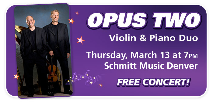 An Evening with OPUS TWO at Schmitt Music Denver!