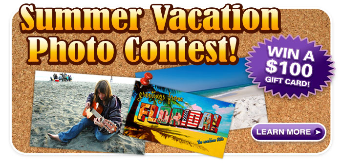 Win a $100 Gift Card in our Summer Vacation Photo Contest!